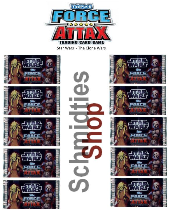 Topps Star Wars - Force Attax Serie 3 - 10-Booster a 10 Karten