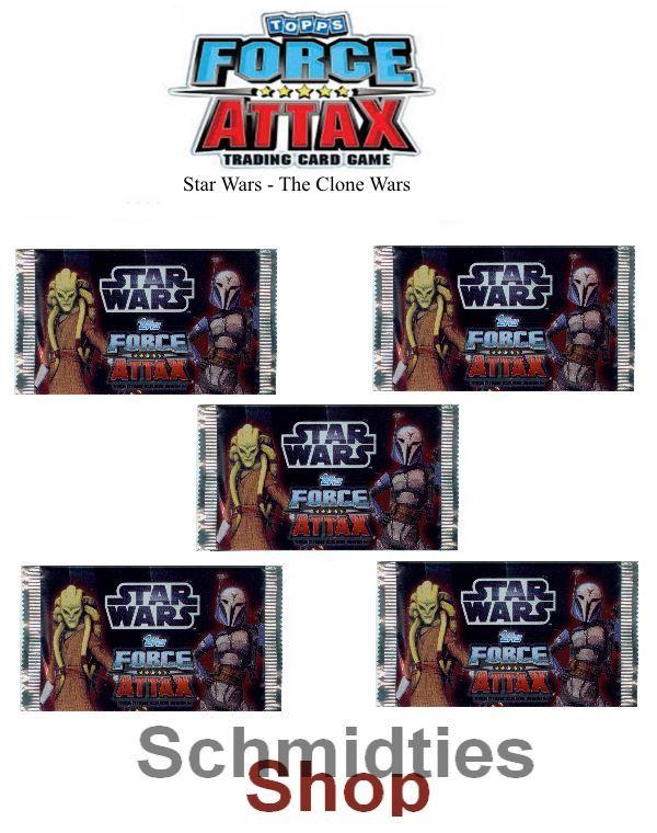 Topps Star Wars - Force Attax Serie 3 - 5 -Booster a 5 Karten