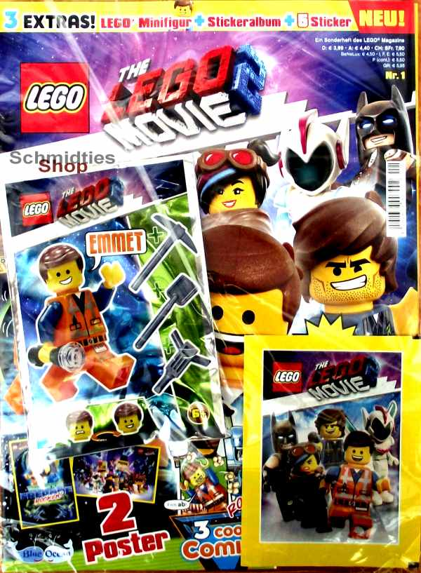 LEGO® The Lego Movie 2 Sonderheft 01/19 mit Figur, Stickeralbum