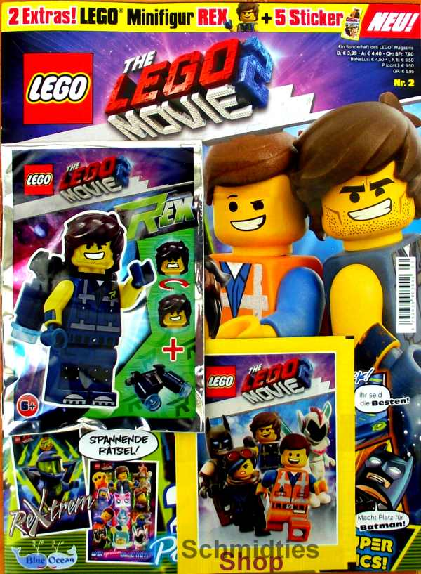 LEGO® The Lego Movie 2 Sonderheft mit Minifigur Rex mit Jetpack