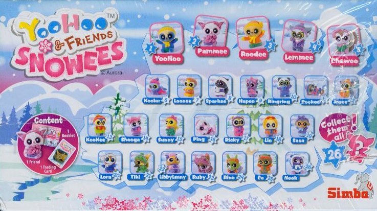 YooHoo and Friends - Snowees - 36er Display (OVP)